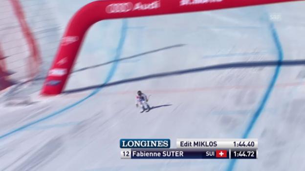 Video «Ski alpin: Weltcup der Frauen, Abfahrt in St. Moritz, Fabienne Suter» abspielen