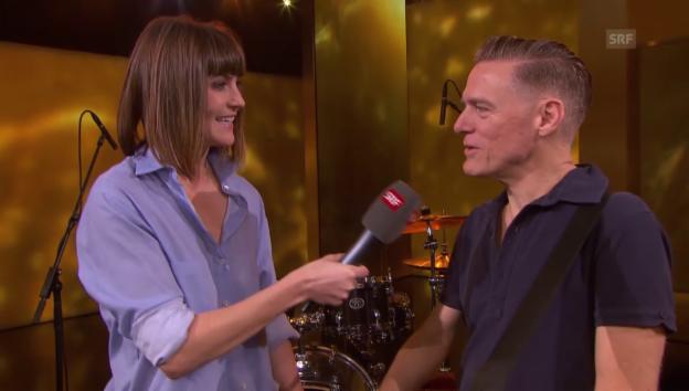 Video «Bryan Adams im Interview mit Annina Frey» abspielen