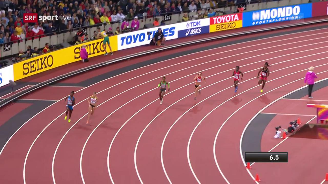 Der 200-m-Vorlauf von Cornelia Halbheer