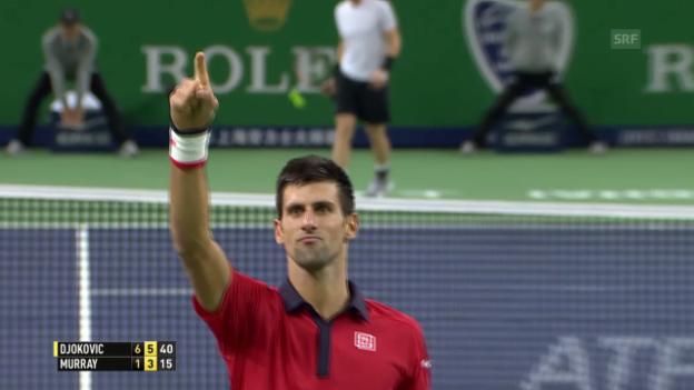 Video «Tennis: ATP Schanghai, Highlights Djokovic - Murray» abspielen