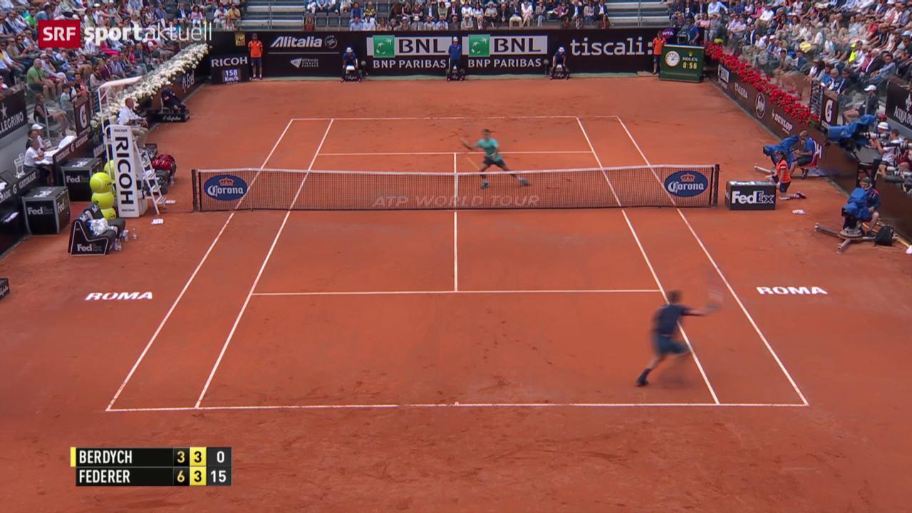 Tennis: Rom-Viertelfinal Federer - Berdych