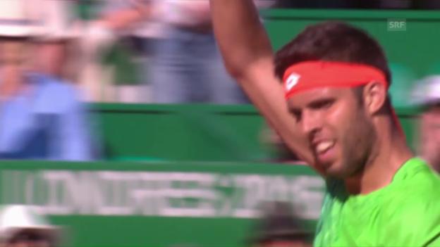 Video «Vesely stoppt Djokovic» abspielen