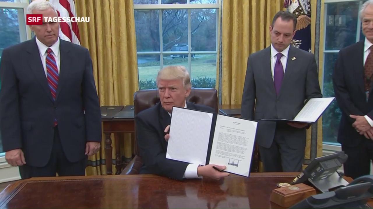 Bilanz de ersten Regierungswoche Trumps