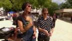 Video «Krämerduell zwischen Anita Buri und Lina Button am «Flohmi» Baden» abspielen