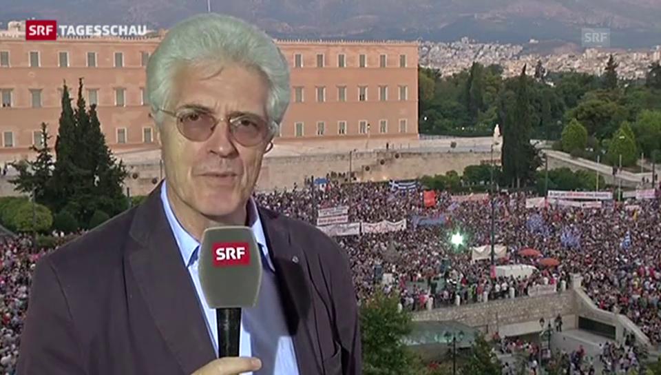 SRF-Korrespondent Van Gent: «Grössere Demonstration als erwartet»