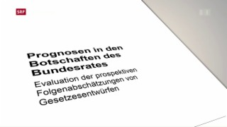 Video «Bundesrat erhält schlechte Noten für seine Prognosen» abspielen