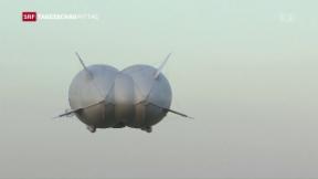 """Video «Erstflug des """"Airlander""""» abspielen"""