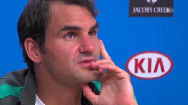 Video «Federer über seinen Schuhverschleiss» abspielen