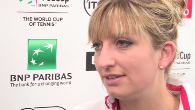 Video «Timea Bacsinszky vor dem Fed-Cup-Halbfinal» abspielen