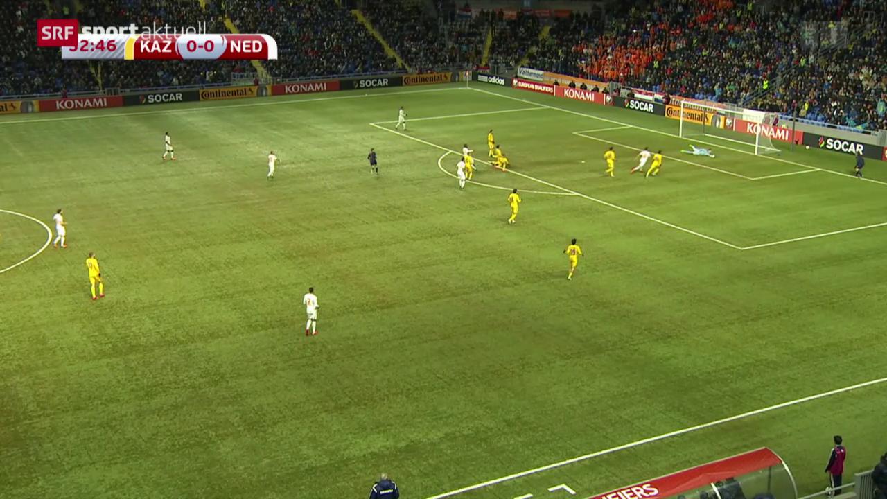 Fussball: EURO-Quali, Kasachstan-Niederlande