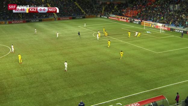 Video «Fussball: EURO-Quali, Kasachstan-Niederlande» abspielen
