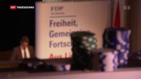 Video «Interner Disput bei der FDP» abspielen
