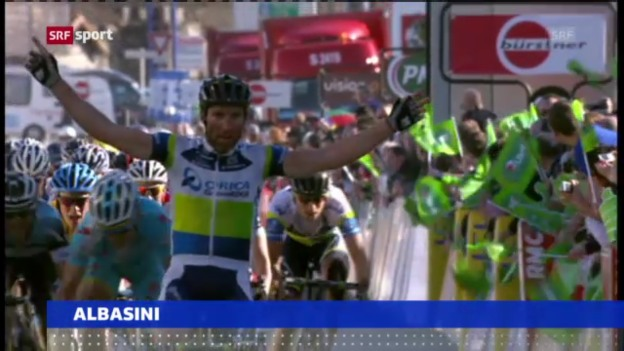 Video «Albasini gewinnt Etappe bei Paris-Nizza («sportaktuell»)» abspielen
