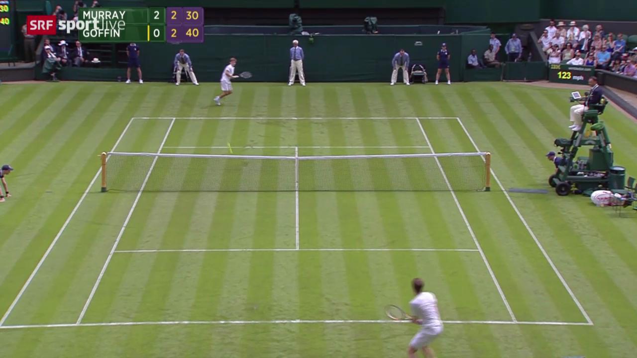 Tennis: Wimbledon, Zusammenfassung Murray - Goffin