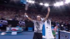 Link öffnet eine Lightbox. Video Live-Highlights Federer - M.Zverev abspielen