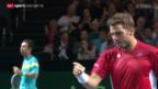 Video «Tennis: Davis Cup, Wawrinka-Kukuschkin» abspielen