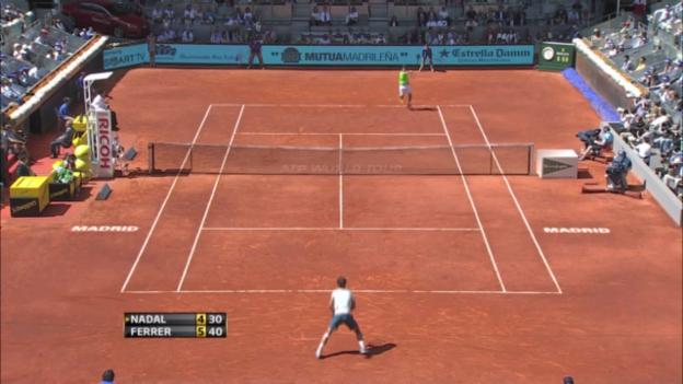 Video «ATP Madrid: Nadal - Ferrer («sportaktuell»)» abspielen