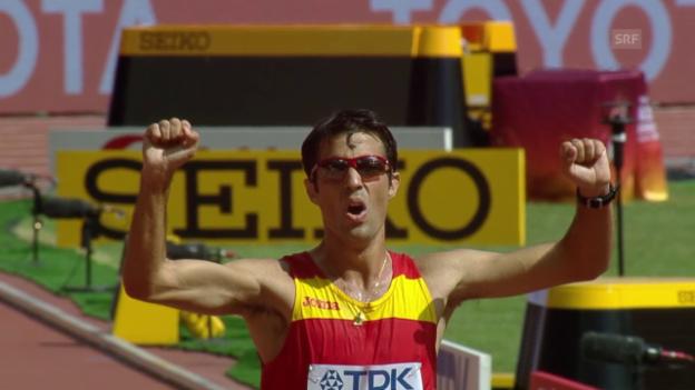 Video «LA-WM: Lopez Weltmeister über 20 km Gehen» abspielen