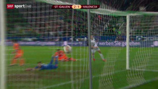 Video «Zusammenfassung St. Gallen - Valencia» abspielen