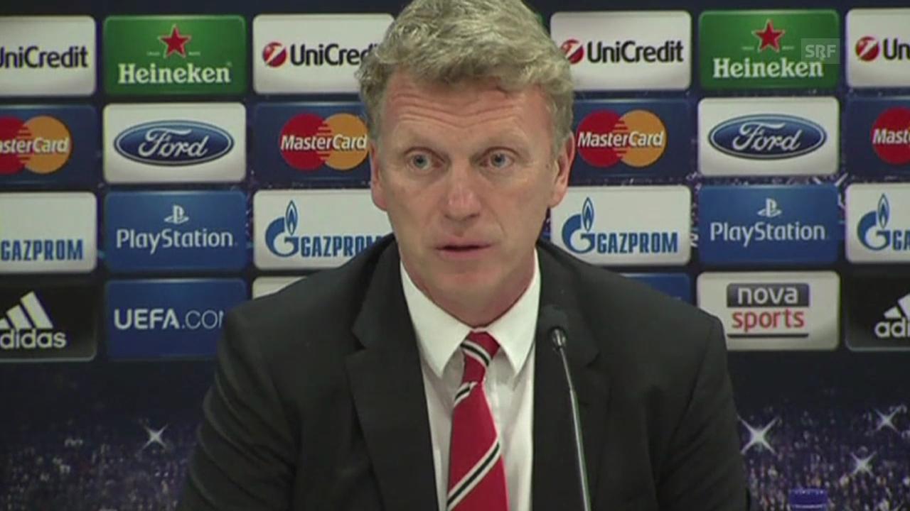 Fussball: Manchester-Coach Moyes über Gegner Piräus (SNTV)