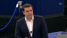 Video «Tsipras vor EU-Parlament: «Ein europäisches Problem»» abspielen