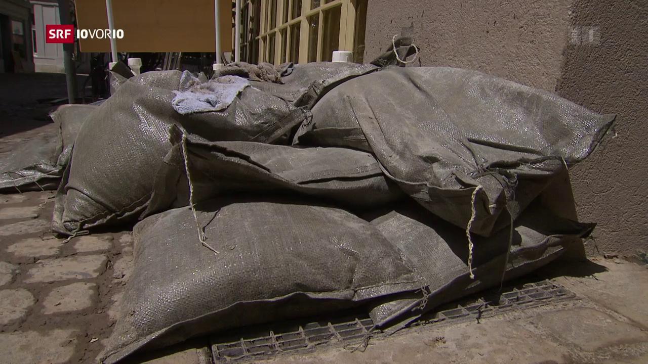 Sandsäcke verhindern die grosse Katastrophe