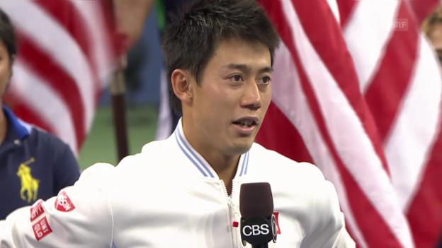Video «Nishikori im Platzinterview» abspielen