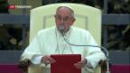 Video «Papst empfängt Tausende Obdachlose» abspielen