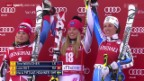 Video «Ski: Riesenslalom Frauen in Val d'Isère» abspielen