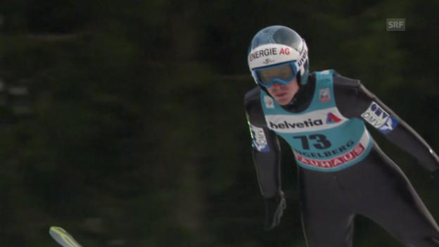 Video «Skispringen: Weltcup, Engelberg, 2. Sprung Hayböck» abspielen