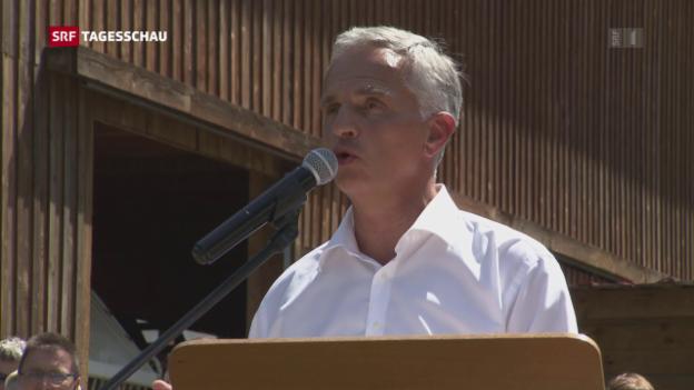 Video «Letzter 1. August für Burkhalter als Bundesrat» abspielen