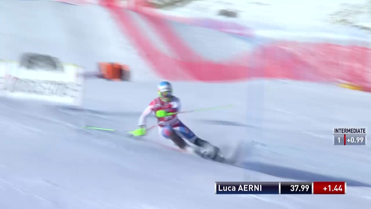 Ski alpin: Slalom Männer Val d'Isère, 1. Lauf Luca Aerni («sportlive», 15.12.2013)