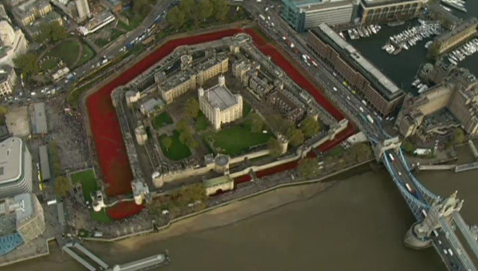 Blutrotes Gedenken in London