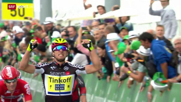 Video «Rad: Tour de Suisse, 6. Etappe» abspielen