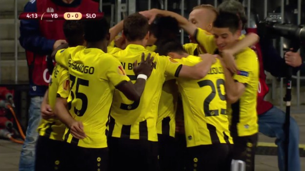 Video «Fussball: Europa League, Live-Highlights YB - Bratislava» abspielen