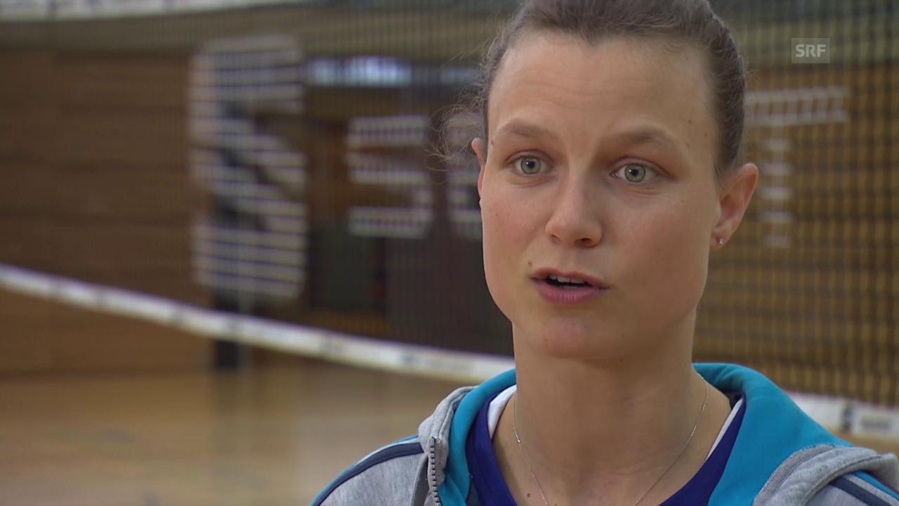 Volleyball: Courtney Thompson vor dem Spiel gegen Cannes