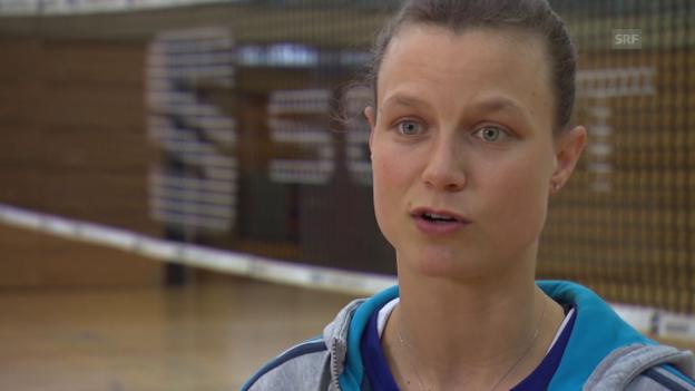 Video «Volleyball: Courtney Thompson vor dem Spiel gegen Cannes» abspielen