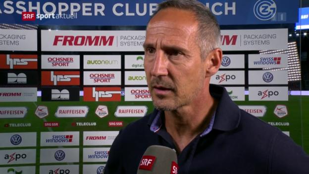 Video «Hütter: «4:0 bei GC zu gewinnen, ist nicht alltäglich»» abspielen