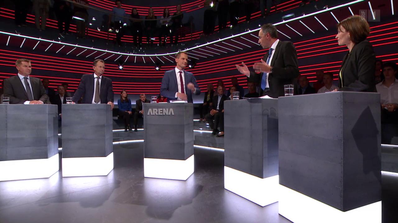 Parteispitzen in der «Wahl-Arena»