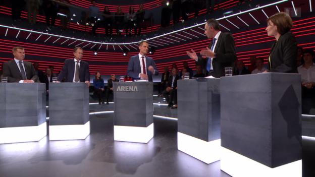 Video «Parteispitzen in der «Wahl-Arena»» abspielen