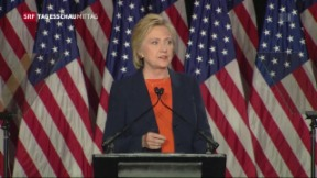 Video «Clinton geht in Offensive» abspielen