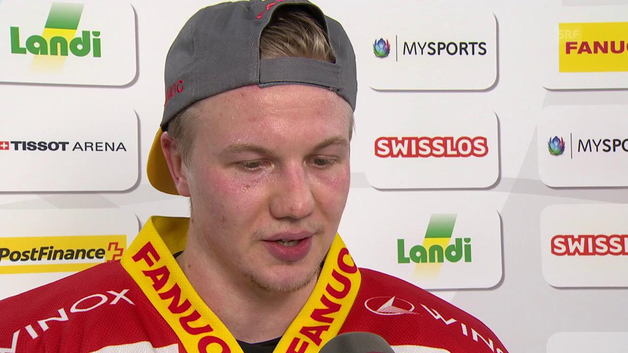 Rajala: «Antti war wütend nach dem 1. Drittel» (Engl.)