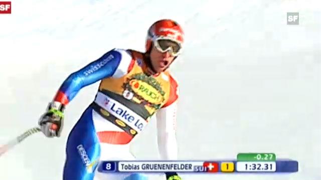 Tobias Grünenfelders Weltcupsieg in Lake Louise 2010
