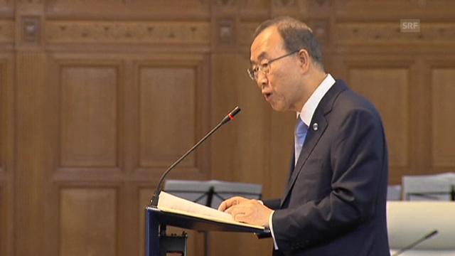 Ban über Syrien-Konflikt