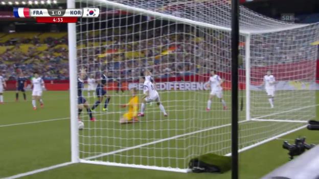 Video «Fussball: Frauen-WM, Frankreich - Südkorea, 1:0 Marie Laure Delie» abspielen