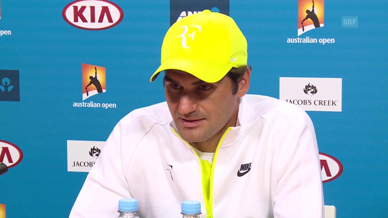 Tennis: Australian Open, Pressekonferenz Federer