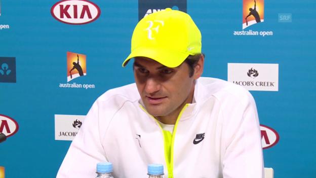 Video «Tennis: Australian Open, Pressekonferenz Federer» abspielen
