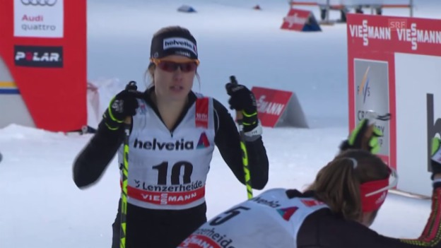 Video «Langlauf: Tour de Ski, 1. Etappe, Zusammenfassung Sprint Frauen» abspielen