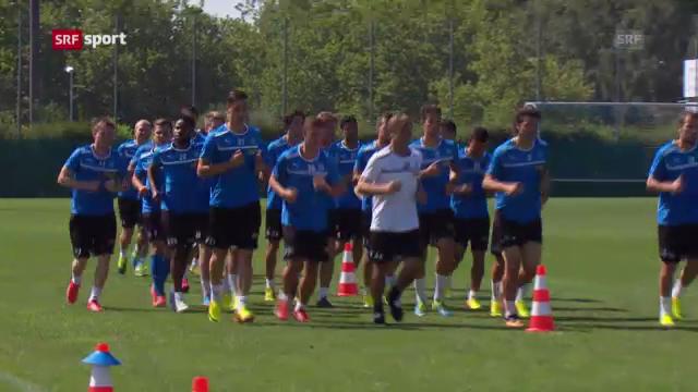Fussball: GC vor dem Rückspiel gegen Lyon («sportaktuell»)