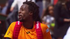 Video «Monfils' Wortgefecht mit dem Schiedsrichter» abspielen